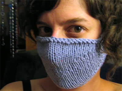 Knitted doctor mask
