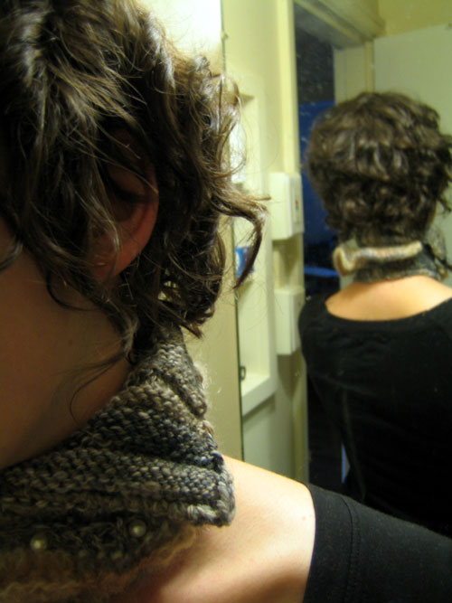 knitted neck brace / hall of mirrors