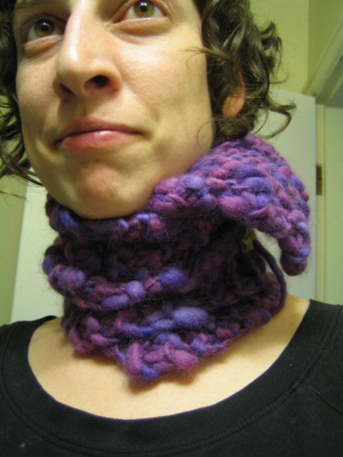 heroic knitting moment